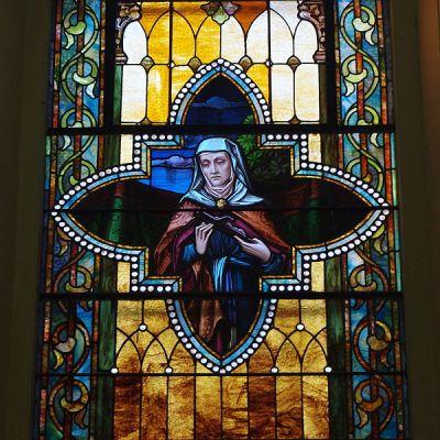 File:Saint Augustine Catholic Church (Lebanon, KY) - stained glass, St. Monica.jpg - Wikimedia ...