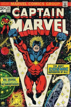 Captain Marvel  Mar Vell    Wikipedia Captain Marvel 29 jpg