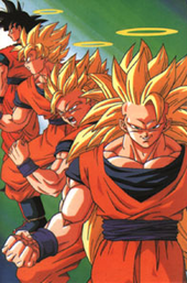 Goku   Wikipedia From left to right  Goku in his base form  and in his Super Saiyan  Super  Saiyan 2 and Super Saiyan 3 forms