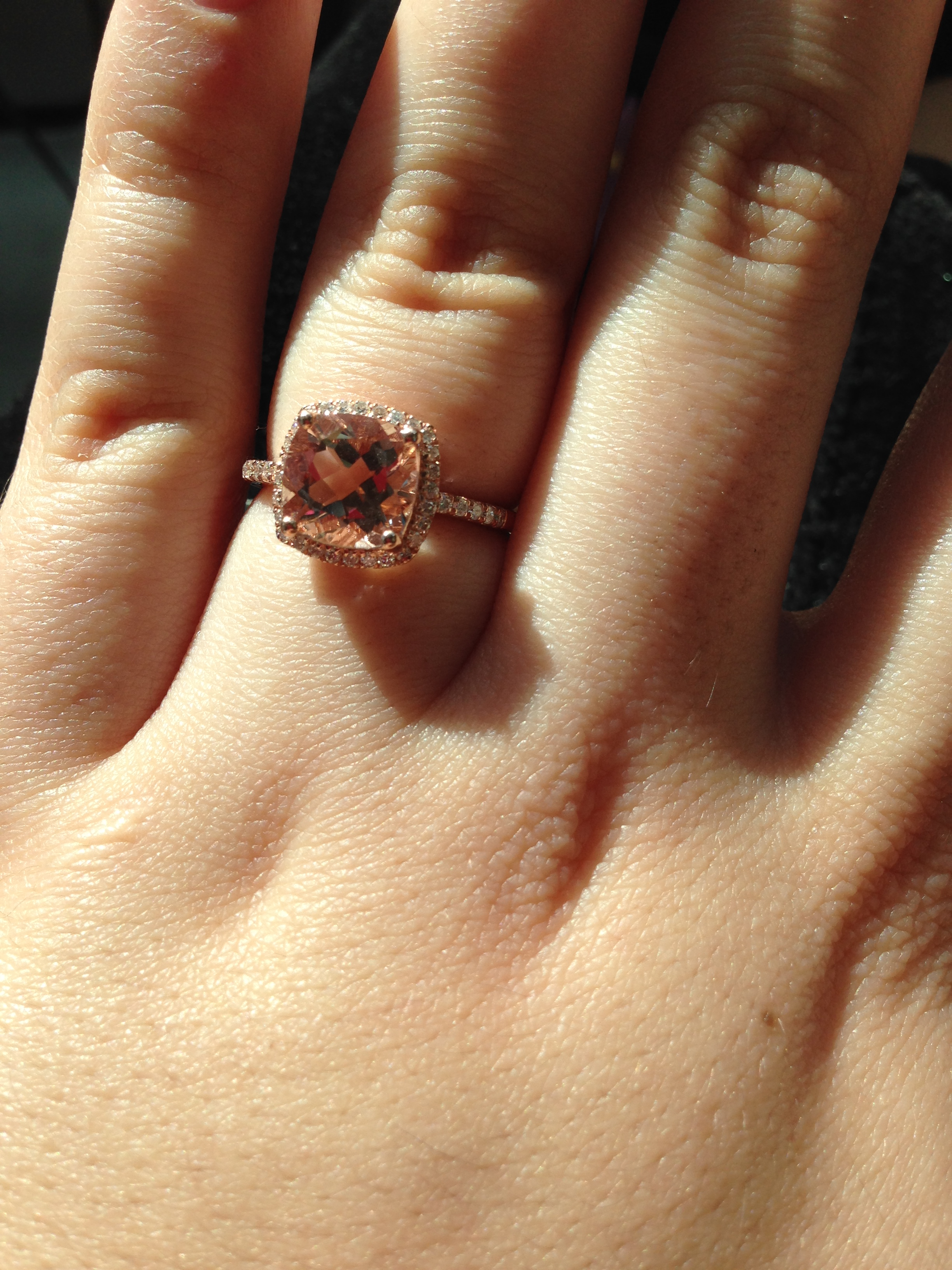 my journey with a morganite engagement ring advice about choosing morganite for your e ring zales wedding band photo 3