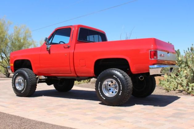 1GTEV14K4HJ520085   1987 GMC 4x4 k15 or chevy k10 short bed restored     1GTEV14K4HJ520085   1987 GMC 4x4 k15 or chevy k10 short bed restored lifted  with built 350 not a c10