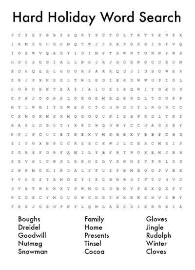 Printable Christmas Word Search For Middle School - adult awesome learning french worksheets ...