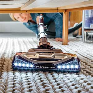 Shark Rotator NV752 - Cleaning Under Furniture with Headlights