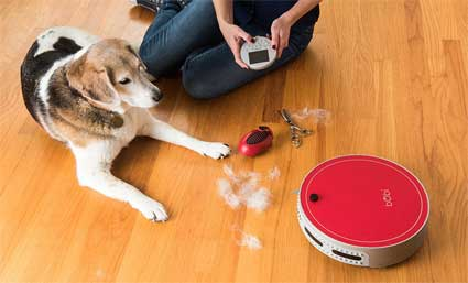 Using bObi Pet Robotic Vacuum Cleaner