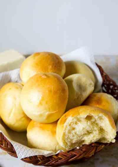 The BEST Homemade Soft Dinner Rolls Ever - Veena Azmanov