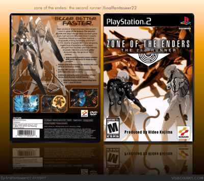 Zone of the Ender: The 2nd Runner PlayStation 2 Box Art Cover by finalfantaseer22