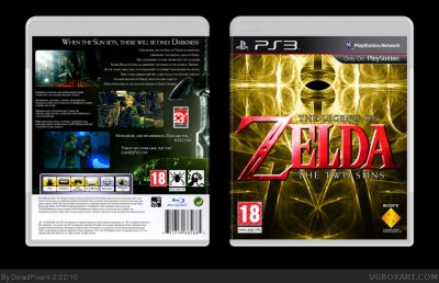 Legend of Zelda: The Two Suns PlayStation 3 Box Art Cover by DeadPixels