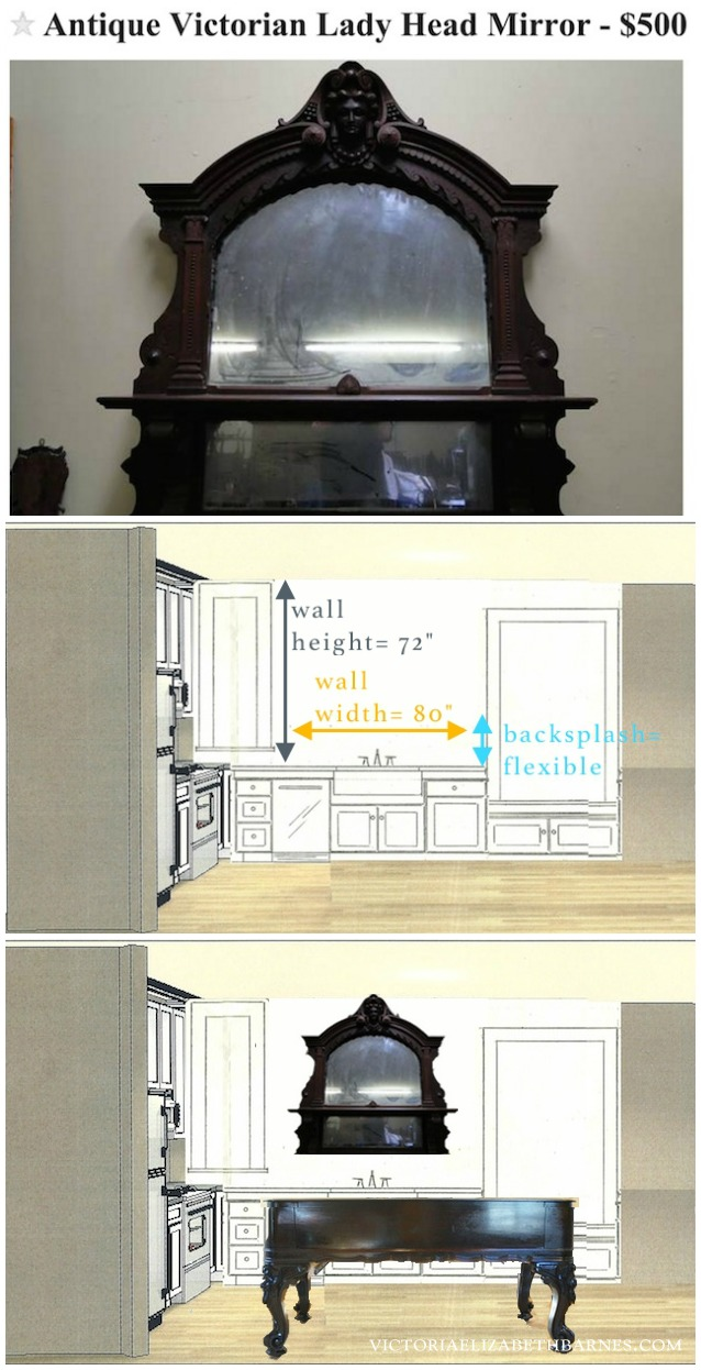 diy kitchen remodel antique mirror over kitchen sink diy kitchen remodel Using salvaged and repurposed materials for our DIY kitchen remodel we are restoring an old