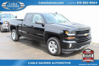 Cable Dahmer Buick GMC Dealer in Kansas City  MO 2018 Black Chevy Silverado 1500 LT 4X4 4 Door Truck