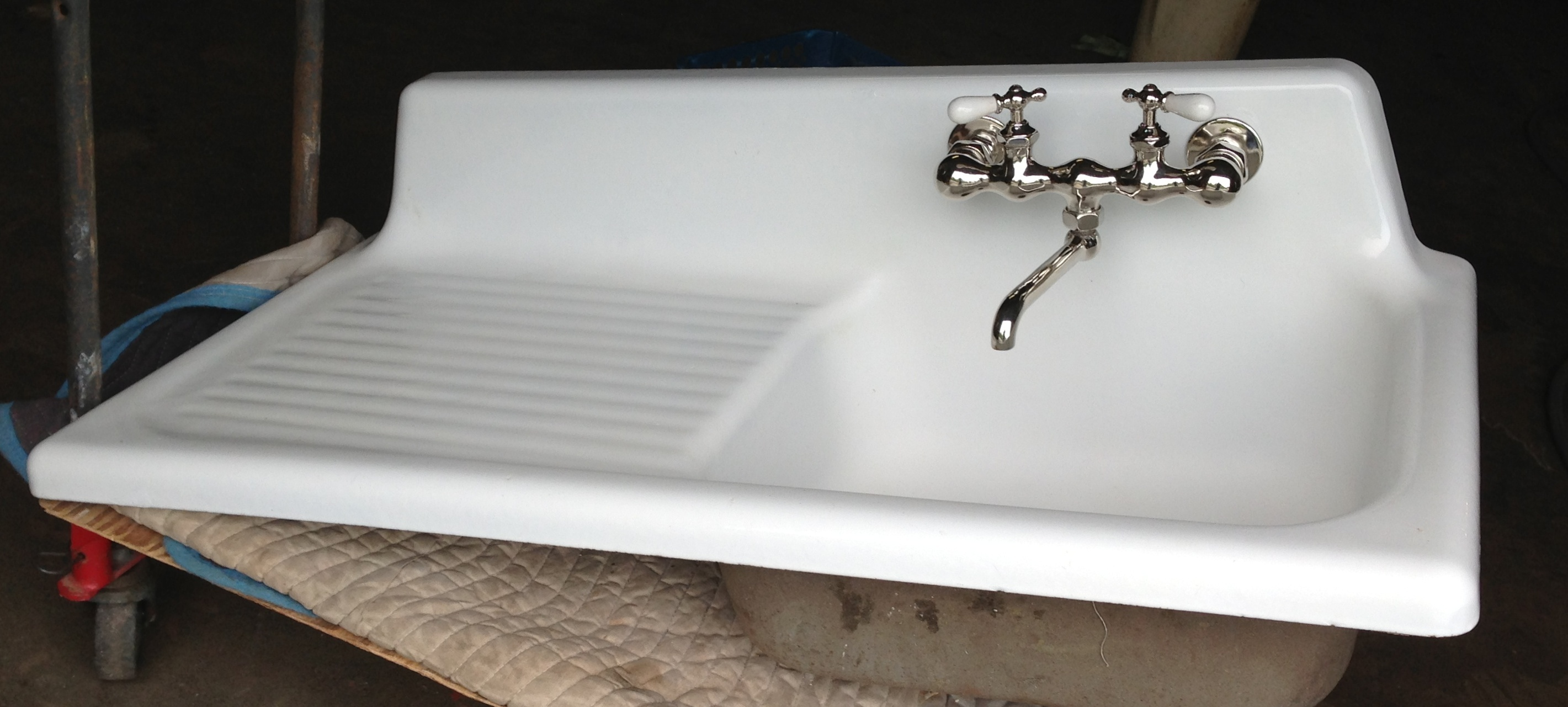 kitchen kohler kitchen sinks Kohler 42 20 Roll Rim Enameled Cast Iron Sink 8 deep basin 00