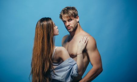 desire, man and woman, shirtless