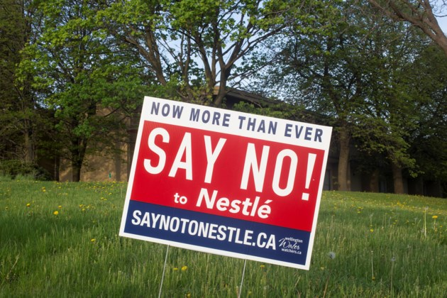 City says no to  Say No to Nestl      signs on public property     20180517 Say No To Nestle Sign KA
