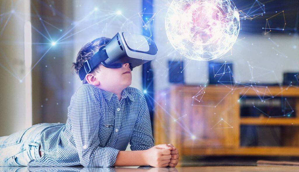 cheap mobile vr cardboard alternative educates child