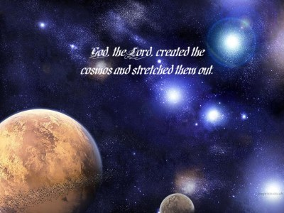 God Created the Cosmos Wallpaper - Christian Wallpapers and Backgrounds