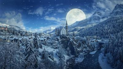 Winter Moon Wallpapers - Top Free Winter Moon Backgrounds - WallpaperAccess