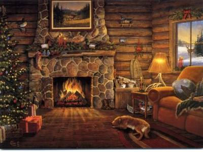 Christmas Fireplace Backgrounds - Wallpaper Cave