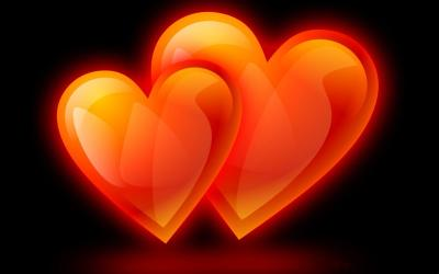 Hearts With Black Backgrounds - Wallpaper Cave
