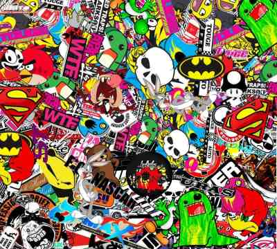 Stickerbomb Wallpapers - Wallpaper Cave