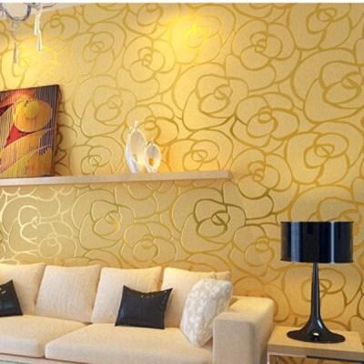 10 Contoh Wallpaper Dinding Ruang Tamu Elegan - Nirwana Deco Jogja