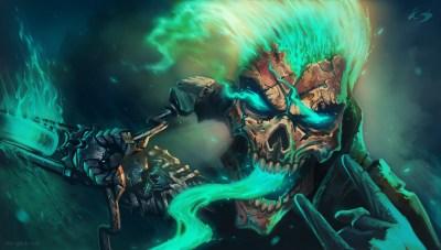 Cool Painting Skull Wallpaper Desktop Wallpaper   WallpaperLepi