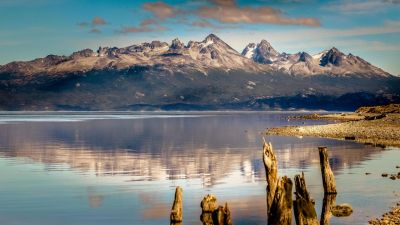 Wallpaper mountain, 4k, HD wallpaper, lake, sea, Ushuaia, Argentina, Nature #13423