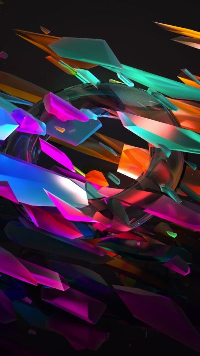 Wallpaper 3D, glass, 5k, OS #16368