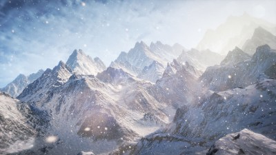 Wallpaper 3D, 5k, 4k wallpaper, 8k, Mountains, snow, clouds, Nature #5255