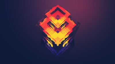 Wallpaper abstract, polygon, 4k, 5k, iphone wallpaper, android wallpaper, orange, red, OS #12740