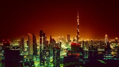 Wallpaper Burj Khalifa, Dubai, Cityscape, Night, 4K ...