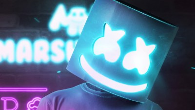 Wallpaper DJ Marshmello, dj, neon, 4K, Music #19770