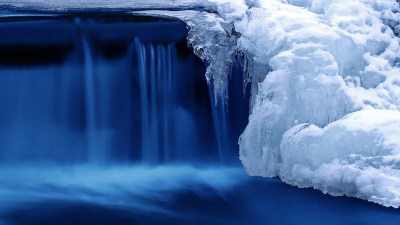 Wallpaper Lake, 4k, HD wallpaper, waterfall, water, snow, ice, Nature #5184