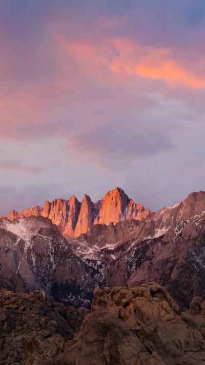 Wallpaper mountains, macos, 4k, 5k, sierra, sky, iphone wallpaper, android wallpaper, Nature #12461