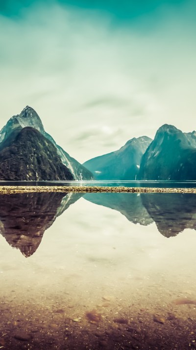 Wallpaper New Zealand, 5k, 4k wallpaper, milford, mountains, river, lake, OS #5352