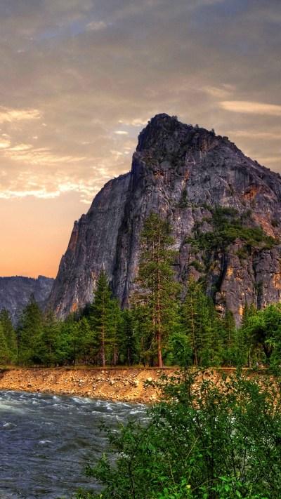 Wallpaper Yosemite, 5k, 4k wallpaper, 8k, forest, OSX, waterfall, apple, mountains, Nature #3950