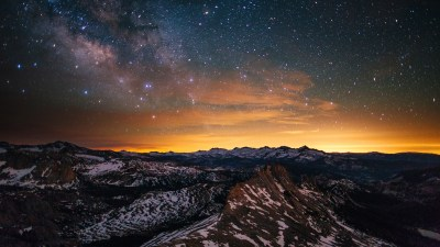 Wallpaper Yosemite, 5k, 4k wallpaper, 8k, forest, stars, sunset, OSX, apple, mountains, Nature #3956