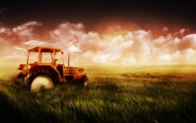 Tractor in the field wallpapers | Tractor in the field stock photos