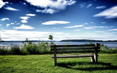 Chill Out Bench Grass & Ocean wallpapers | Chill Out Bench Grass & Ocean stock photos