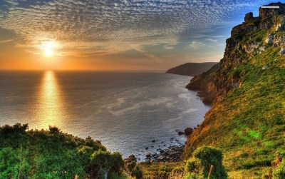 Nice Sunset Ocean Cliff Scenic wallpapers | Nice Sunset Ocean Cliff Scenic stock photos