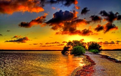 Two Seas One Shore Sunset wallpapers | Two Seas One Shore Sunset stock photos