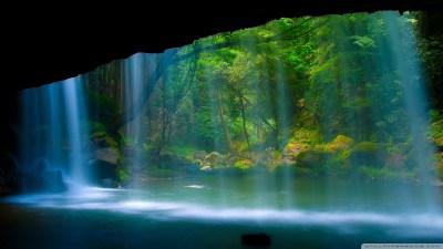 Behind The Waterfall 4K HD Desktop Wallpaper for 4K Ultra HD TV • Wide & Ultra Widescreen ...
