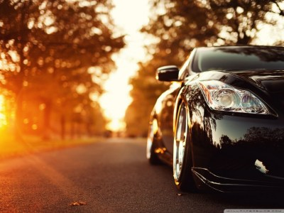 Black Infiniti Car On The Road 4K HD Desktop Wallpaper for 4K Ultra HD TV • Dual Monitor ...
