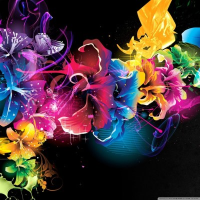 Colorful Flowers 4K HD Desktop Wallpaper for 4K Ultra HD TV • Tablet • Smartphone • Mobile Devices