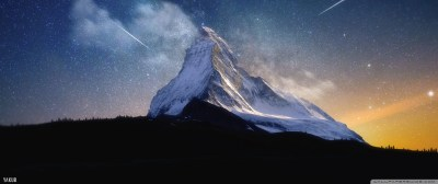 Milky Way Mountain by Yakub Nihat 4K HD Desktop Wallpaper for 4K Ultra HD TV • Tablet ...