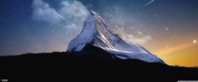 Milky Way Mountain by Yakub Nihat 4K HD Desktop Wallpaper for 4K Ultra HD TV • Tablet ...