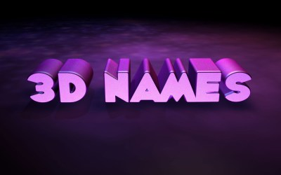 3D Name Wallpaper ·①