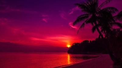 Hawaii Sunset Wallpaper ·①