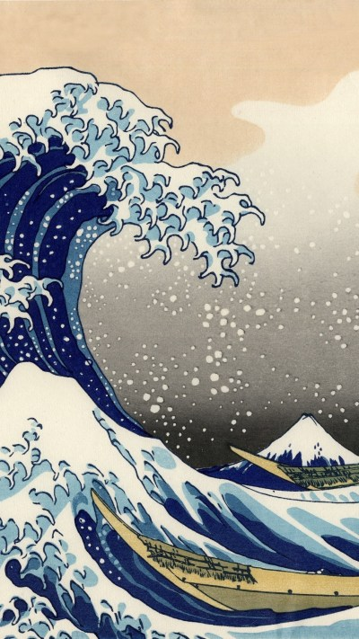 The Great Wave Off Kanagawa Wallpaper ·①