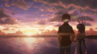 anime, DJ Max, Beach, Sunset, People Wallpapers HD / Desktop and Mobile Backgrounds