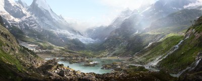 Thomas Galad, Matte Paint, Landscape, Nature, Mountain, Valley Wallpapers HD / Desktop and ...
