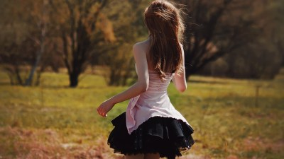 skirt, Nature, Brunette, Behind Wallpapers HD / Desktop and Mobile Backgrounds